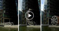 Incrível Obra De Engenharia Permite Que Ponte Se Enrole Transformando-se Numa Bonita Escultura