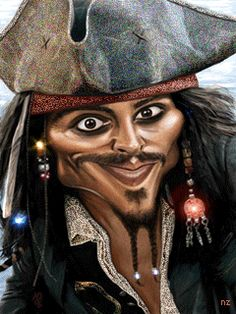 Johnny Depp as Captain Jack Sparrow.you have to look at this board! too much funniness! Cartoon Faces, Funny Faces, Cartoon Art, Cartoon Characters, Cartoon Design, Johnny Depp, Here's Johnny, Caricature Artist, Caricature Drawing