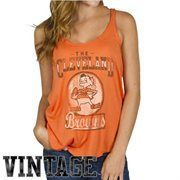 Majestic Cleveland Browns Historic Logo Women's Brown Go For Two ...