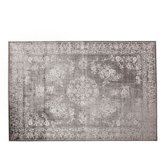 Image 2 of the product VISCOSE RUG WITH FLORAL MOTIFS