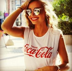 coca cola t-shirt. Would go great with burgundy shorts