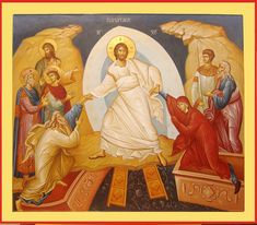 Воскресение Христово Orthodox Catholic, Christ Is Risen, Holy Week, Art Icon, Orthodox Icons, Sacred Art, Christian Art, Religious Art, Christianity