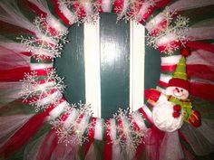 Christmas Tulle Wreath.