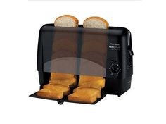 Keep using vertical space in the kitchen with this skinny toaster, which simultaneously toasts both sides of the bread, for $39.