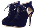 LUCY'S BLACK CREEPIN STILETTO SHOES $169.99