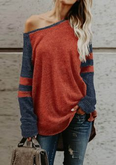 Women Fashion Off Shoulder Shirt. Find more trendiest clothing at znu.com Free shipping worldwide. #freeshipping #sweater #offtheshoulder #ootd #love #hairgoal #streetfashion #dailylook #ootdshare #girlsfashion