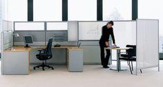 Office Cubicles, Desk, Furniture, Home Decor, Writing Table, Homemade Home Decor, Desktop, Home Furnishings, Office Desk