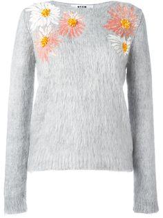 MSGM sequin flowers jumper