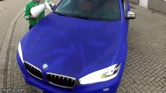 No words really. How cool is this?!  hulk-car-paint-job.gif