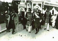 Inauguration de la cathédrale Saint Nicolas  . Le duc de Leuchtenberg en compagnie du maire de Nice le général Goiran