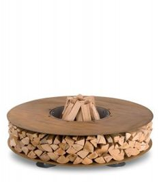 Outdoor fire place/ boma with firewood storage around full circumference