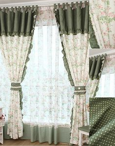 tende polka dot camera da letto
