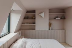 """Studio co-founder Emma Perkin said the aim was to create a """"sense of calm"""" in the space, which will be used as a bedroom."""