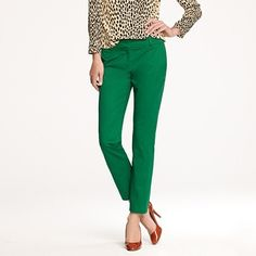 I really want to rock the green pants trend.. Yay or Nay? jcrew