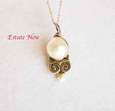 A personal favorite from my Etsy shop https://www.etsy.com/listing/213494963/large-round-pearl-pendant-vintage-silver