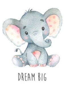 Elephant Nursery, Cute Elephant, Animal Nursery, Baby Elephant Drawing, Cute Animal Drawings, Cute Drawings, Jungle Animals, Baby Animals, Baby Elefant