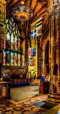 Inside a glimpse of St. Giles Cathedral, Scotland
