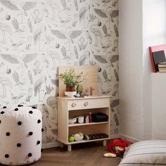 Birds Wallpaper - Off White by Ferm Living x Katie Scott
