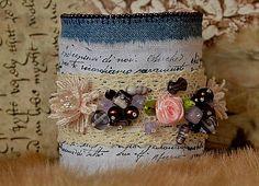 charoit / Rozkvitnutý vintage náramok