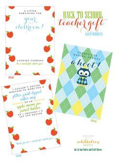 3 Free Back To School Gift Card Holders | @kimbyers, TheCelebrationShoppe.com for @JoAnn_Stores #teacherappreciation