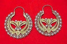 Antique Spanish Style 14k Filigree Earrings