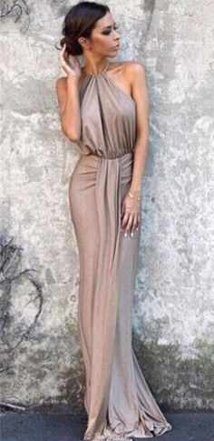 gray halter prom dress,gorgeous custom made prom dress,cheap party dress