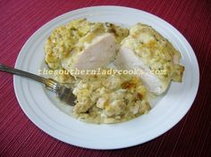 My familyloves this casserole and it is something different to do with chicken. You could make this with any chicken parts other than chicken breasts, too. 4 to 6 chicken breasts, boneless and sk...