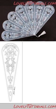 Different royal icing fans templates and tutorials