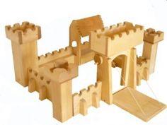 Ritterburg aus Holz oder Schloss für Kinder 4012