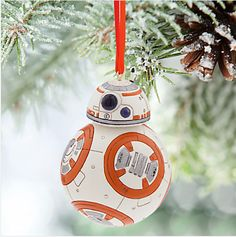 Here's one last Star Wars treat — this BB-8 ornament. | 27 Must-See Things For Parents Who Are Already Feeling Christmas