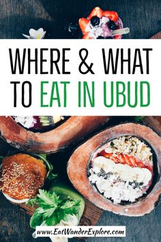 From cheap eats in Ubud at both warungs and restaurants to cafes and tourist-only establishments, here are our recommendations on where to eat in Ubud, Bali. We stayed in Ubud for a month and. Bali Resort, Drinking Around The World, Bali Travel, Travel With Kids, Family Travel, International Recipes, Foodie Travel