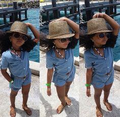 Little fashionista summer look