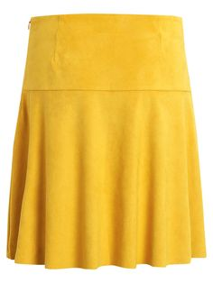 FAKE SUEDE SKIRT, Nugget Gold, large