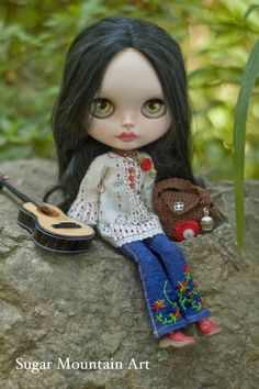 Wild Rose. Peasant Top Sugar Mountain Jeans by SugarMountainArt