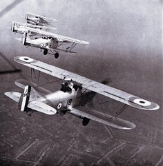 Hawker Harts in formation. British aircraft of the between-war period have always fascinated me