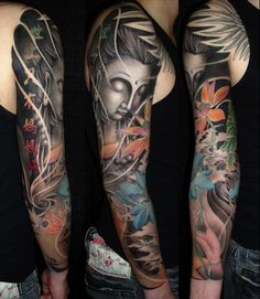 Buddha Tattoo like The concept and flow of the tattoo, great for idea