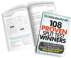 108 Proven Split Test Winners. Simple Tweaks You Can Make to Your Website, so You Can Make More Money Now! (2013) by Russell Brunson http://www.amazon.com/dp/B00K71W40G/ref=cm_sw_r_pi_dp_z3FVtb07W2X0N7CK