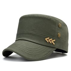 2efe00025497de Winter Middle-Aged Men Cotton Patchwork Military Army Cap Outdoor  Adjustable Flat Top Hats