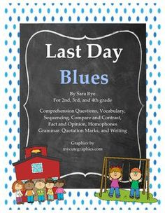 Reminisce with your students during the last week or two of school.  This packet reviews skills such as vocabulary, sequencing, compare and contrast, fact and opinion, homophones, use of quotation marks, and writing.  The writing allows students to write about some of their favorite memories of the school year.This is a great packet to use when textbooks are finished, students are tired and ready for summer, and you still have a few days left to keep busy.Please look for my activity pack…