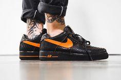 The Shoe Surgeon Python VLONE x Air Force 1 black orange
