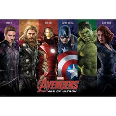 "#Poster ""Age Of Ultron - Team"" degli #Avengers."