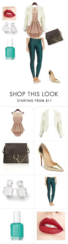 """""""work outfit"""" by insoninees ❤ liked on Polyvore featuring Chloé, Christian Louboutin, Ippolita, Onzie and Jouer"""