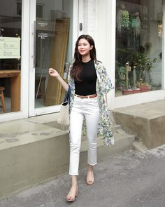 Korean Fashion Trends, Korean Street Fashion, Asian Fashion, Cute Fashion, Daily Fashion, Fashion Outfits, Cute Casual Outfits, Simple Outfits, Matches Fashion