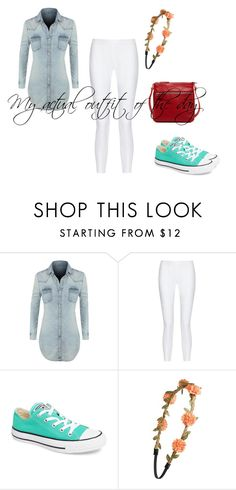 """""""My real  outfit of the day"""" by zaria-costley ❤ liked on Polyvore featuring LE3NO, 10 Crosby Derek Lam, Converse, BP. and SUSU"""
