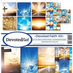 5 sheets Devoted Faith RISEN 12X12 Scrapbook Papers by Reminisce