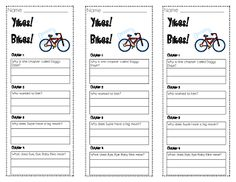 Lory's Page: Chapter Book Comprehension Bookmarks