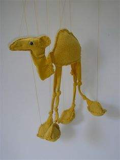 Camel marionet-fabric,rice filling-liat binyamini ariel-www.liatart.com