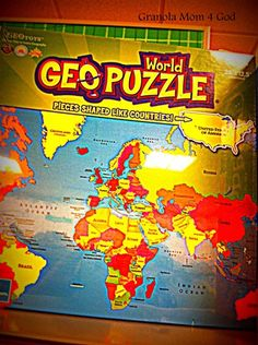 geopuzzle & other ways to teach geography very simply.