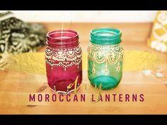 BOHEMIAN ROOM DECOR: DIY MOROCCAN LANTERNS - YouTube