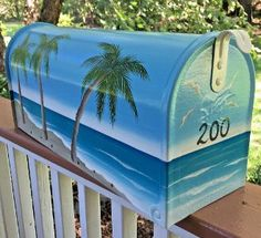 hand painted mailboxes beach palms